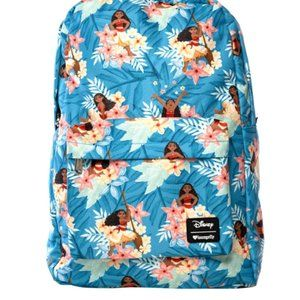 LOUNGEFLY MOANA FLORAL PRINT BACKPACK